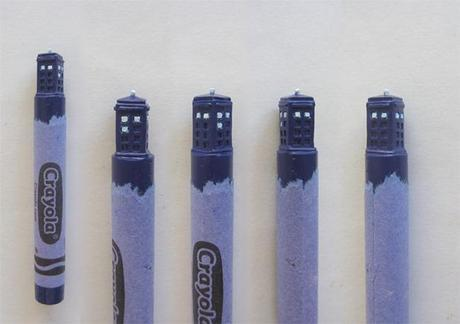 DOCTOR WHO Inspired Crayon Carvings!