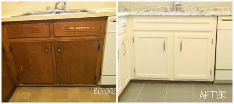 BEFORE and AFTER on the Savage Drive Townhouse Rental FLIP: Kitchen