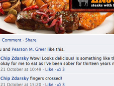 What Learn from Charming, Possibly Damaging Relationship Applebee's Facebook with Chip Zdarsky?