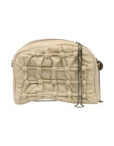 Petrizia Pepe Leather Bag in Cream with detailing 2