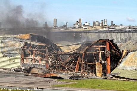 Crisp factory fire in Newport, South Wales - Arson - man sentenced..
