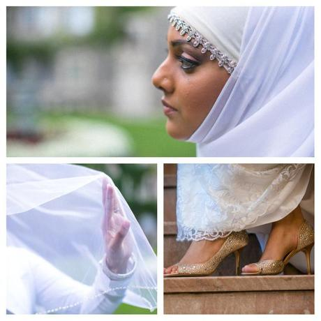 Muslim bride collage