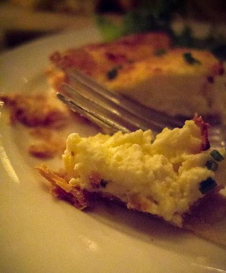 photo of Goat cheese tart with fennel shavings