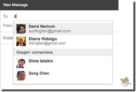 new gmail google+ feature
