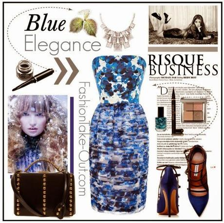 High Street Style:: Blue Elegance in Blossoming Blue Pansies