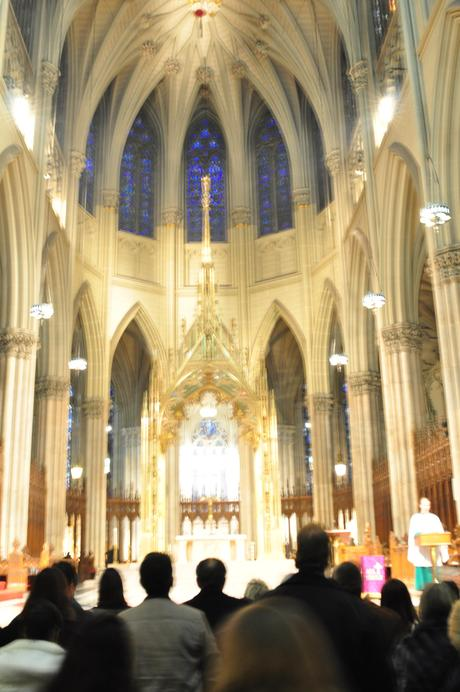 The inside of St. Patrick's Cathedral on 5th Avenue