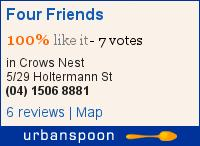 Four Friends on Urbanspoon