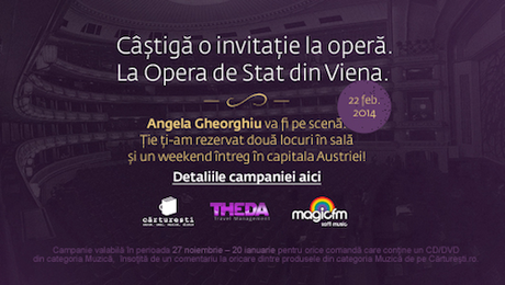 WIN a weekend in Vienna + 2 tickets for Adriana Lecouvreur on Feb 22