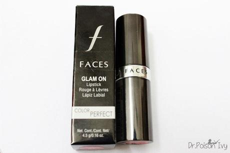 Faces Glam On Lipstick Enamour Swatches