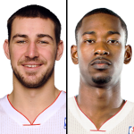 Jonas Valanciunas and Terrence Ross Toronto Raptors