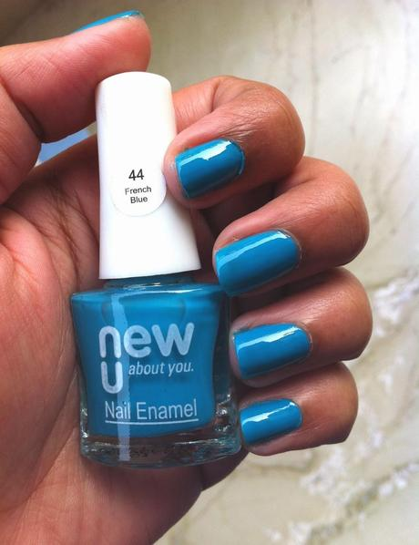 Nails of the Day with NewU polish French Blue