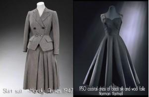 Hardy-Amies-and-Norman-Hartnell---1950s-dress-couture