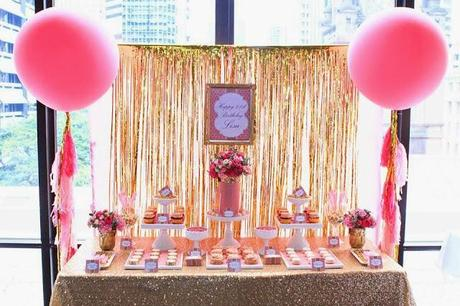 Pink and Gold 21st Birthday by Perfectly Sweet
