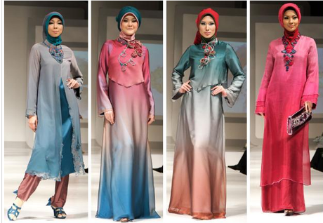 Grey And Blue hijabs