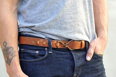 Wheelman & Co. Clubman Buffalo Hook Belt