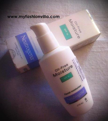 Neutrogena Oil Free Moisturiser SPF15