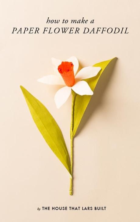 How to make a paper flower daffodil
