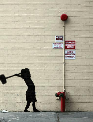 Amazing Animated GIFs from Best of Banksy Works