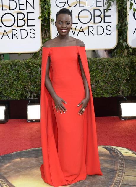 Lupita Nyong'o at Golden Globes Awards 2014