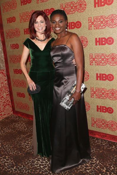 Carrie Preston and Adina Porter HBO Party GG 2014 Frederick M. Brown Getty