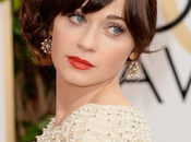 Zooey Deschanel 2014 Look Golden Globes
