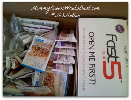 First Day on Nutrisystem Fast Five and My Way Program #NSNation
