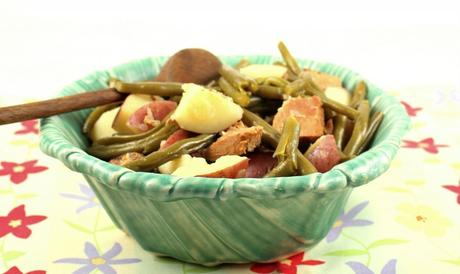 Southern Style Green beans with Potatoes