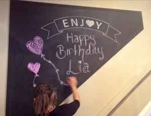 Birthday Chalk Board