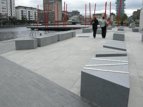 Grand Canal Square, Dublin, Ireland - Stone Bench Detail