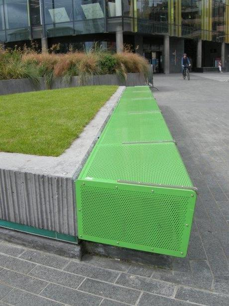 Grand Canal Square, Dublin, Ireland - Steel Bench