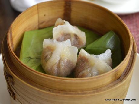 Crystal duck dumpling