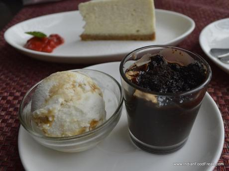 Coconut Icecream and Mud Cake