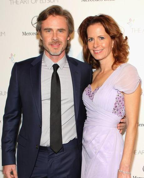 Sam Trammell and Missy Yager Perrier-Jouet Celebrates The Art Of Elysium's 7th Annual HEAVEN Gala Presented By Mercedes-Benz Chelsea Mike Windle Getty