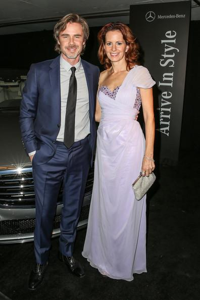 Sam Trammell and Missy Yager Perrier-Jouet Celebrates The Art Of Elysium's 7th Annual HEAVEN Gala Presented By Mercedes-Benz Chelsea Lauren Getty 2