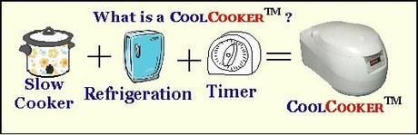 The CoolCooker is a slow cooker with refrigeration and a timer