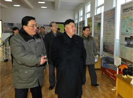 Kim Jong Un views an exhibition at the State Academy of Sciences (Photo: Rodong Sinmun).