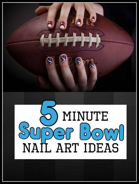 Super Bowl Nail Art Ideas: 5 Min Championship Manicure