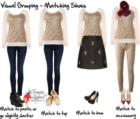 visual grouping - matching shoes
