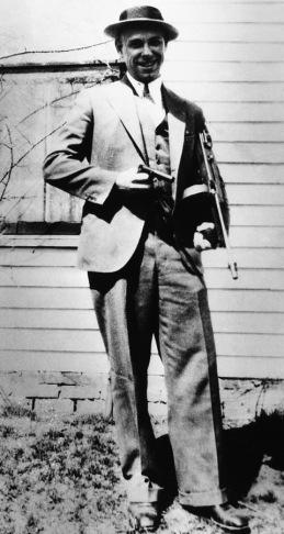 John Dillinger himself in March 1934, freshly escaped from the Crown Point jail in Indiana.