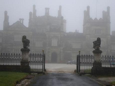 Cornish stately home in fog - www.ShopCurious.com