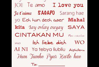 How to say i love you in other languages