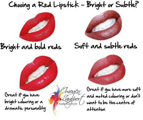 choosing a red lipstick - bright or muted
