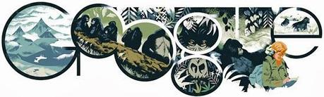 Google doodle remembering Dian Fossey - Digit Gorilla fund