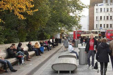 New Road, Brighton, Shared Space - Benches and Seating