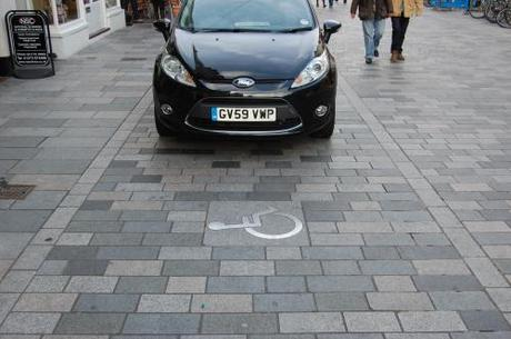 New Road, Brighton, Shared Space - Disabled Parking Bay
