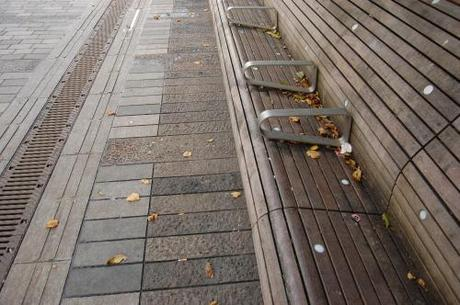 New Road, Brighton, Shared Space - Bench Detail