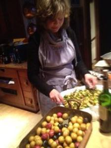 Denise Landis in the kitchen.