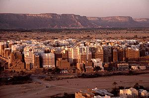 English: The high-rise architectures at Shibam...