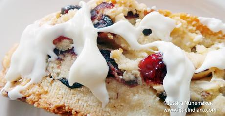 Cranberry and Almond Biscotti with White Chocolate Drizzle Recipe