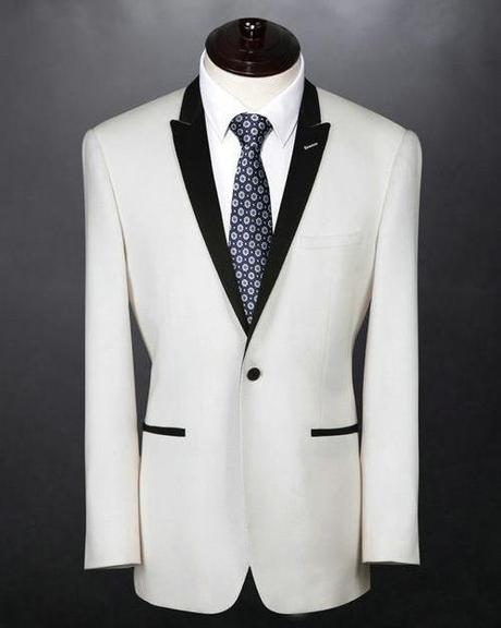 A single-button peak-lapel jacket